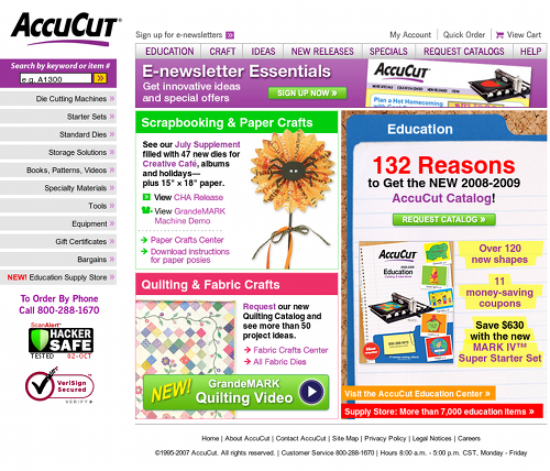 AccuCut Homepage